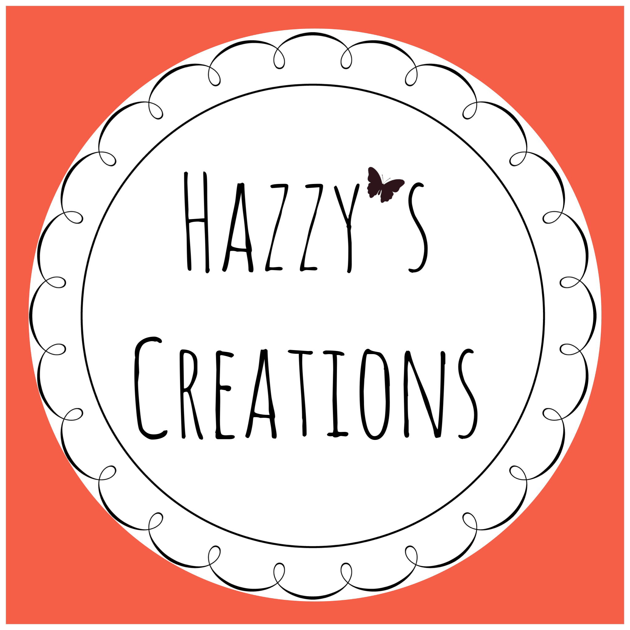 Hazzy's Creations Logo 1 peach