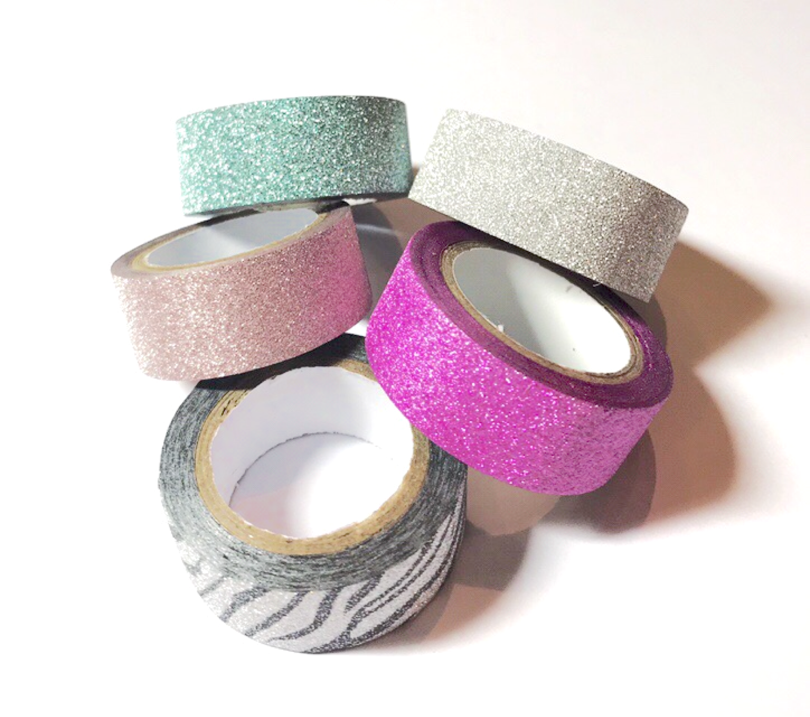 Assorted glitter tape
